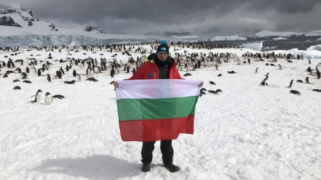 Петър Стойчев на Антарктида.
