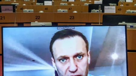 Алексей Навални пред ЕП във видеоконференцията