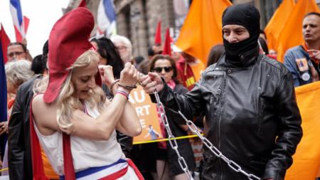 На протеста в Париж -  17 юли 2021 г.