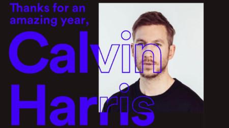 Калвин Харис поздрави феновете си за страхотната година. Дуетите му с Дуа Липа и Сам Смит го държаха 15 седмици №1 в ефира на Великобритания