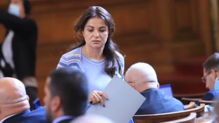 Заместник-председателят на Народното събрание Росица Кирова от ГЕРБ