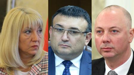 Петя Аврамова, Младен Маринов и Росен Желязков