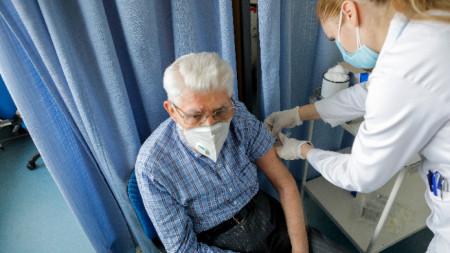 Имунизация в Белград, 15 януари 2021 г.