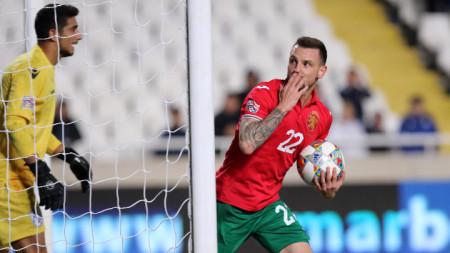 Николай Димитров има един гол за националния отбор.