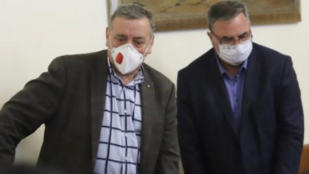 Prof. Dr. Todor Kantardzhiev (L) and Assoc. Prof. Dr. Angel Kunchev