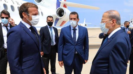 Президентът на Франция Еманюел Макрон пристигна в Бейрут