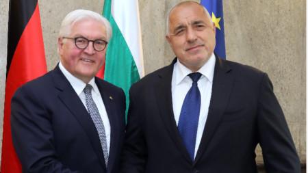 Бойко Борисов и президент Германии Франк-Вальтер Штайнмайер