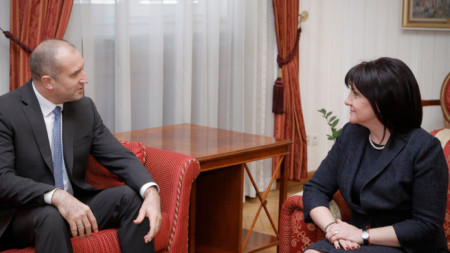 Президентът Румен Радев и председателят на Народното събрание  Цвета Караянчева