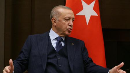 Президентът на Турция Реджеп Ердоган