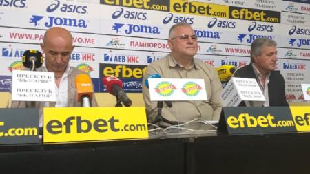 Ваелентин Николов, Даме Стойков и Бойчо Величков /отляво-надясно/