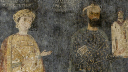 Севастократор Калоян и съпругата му Десислава