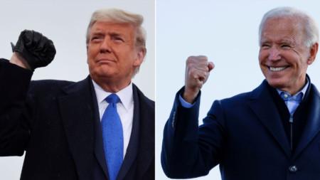 Доналд Тръмп (вляво), Джо Байдън