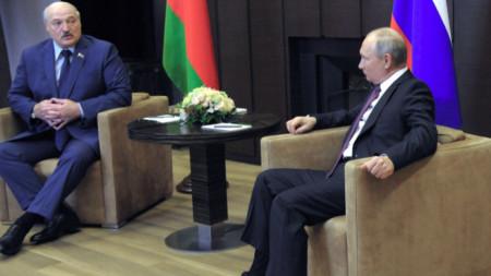 Среща на Александър Лукашенко с Владимир Путин в Сочи