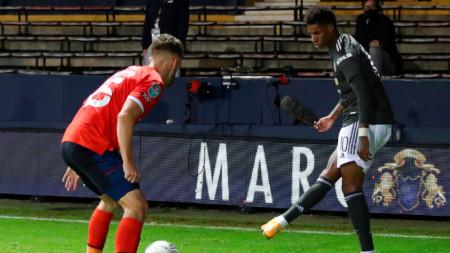 Рашфорд (вдясно) вкара втория гол за Манчестър Юнайтед.