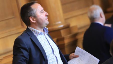 ITN MP Momtchil Ivanov in parliament