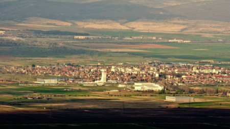 Ansicht der Stadt Elin Pelin