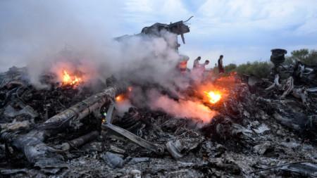 Полет МН-17 на Малайзия Еърлайнс се разби в Донбас на 17 юли 2014 г.