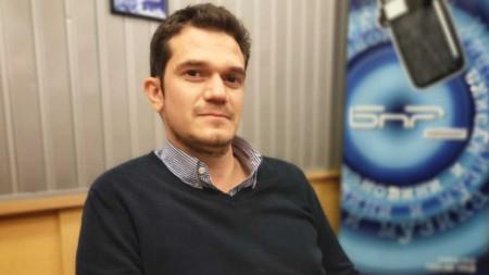 Георги Стоянов в студии БНР