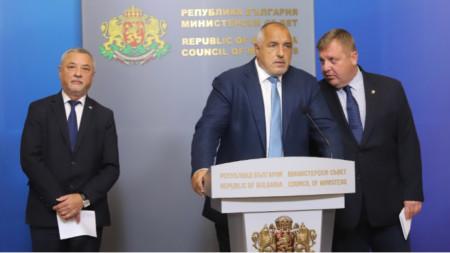 Bojko Borissow (m.), Krassimir Karakatschanow (r.)