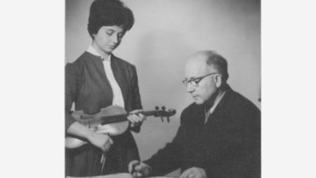Проф. Трендафил Миланов с дъщеря си Стойка Миланова