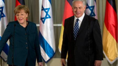 Германската канцлерка Ангела Меркел и министър-председателят на Израел Бянямин Нетаняху