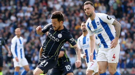 Манчестър Сити победи с 4:1 като гост Брайтън и спечели титлата