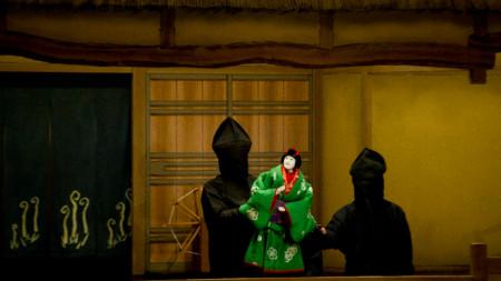 Японската кукла Бунраку