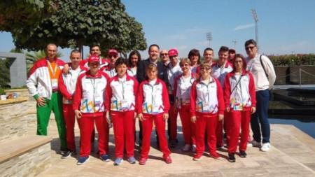 Отборът на България в Абу Даби.