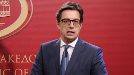 North Macedonia's President Stevo Pendarovski