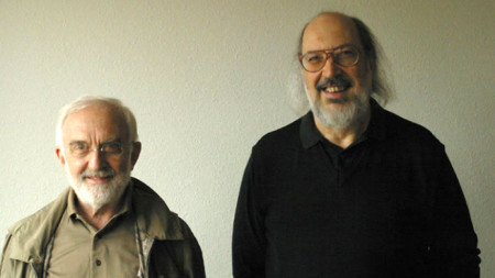 Акордеонистът Джани Коша (вляво) и Джанлуиджи Тровези