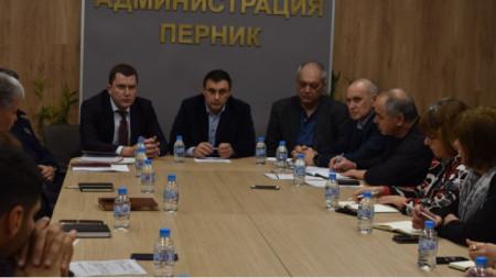 Заседание на Областния кризисен щаб в Перник