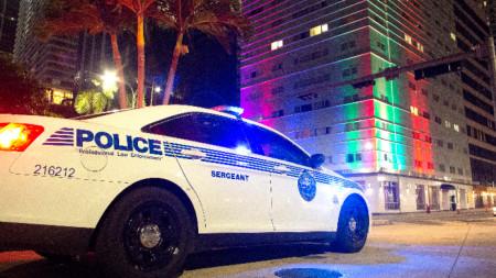 Полицейски патрул в Маями Дейд, 28 март 2020 г.
