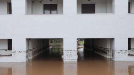 Наводнение на остров Евия от дъждовете.