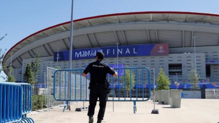 Полицията в Мадрид има доста работа преди финала.