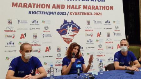 Цветелина Кирилова говори по време на пресконференцията.