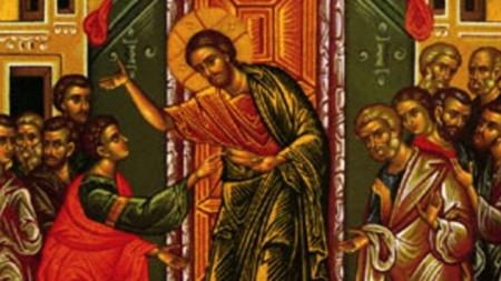 Свети Тома и Исус Христос