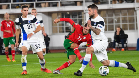България с първа загуба в историята от Финландия