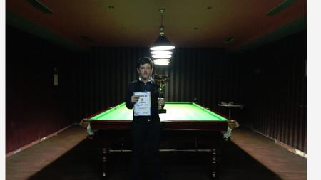 Радослав Дочовски победи в турнира по снукър, който се проведе в Мездра.