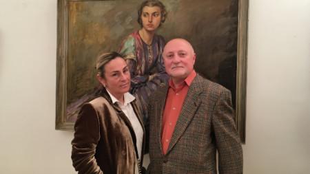 Светлана Кунстман и Пламен Проданов на откриването на изложбата в Хелзинки