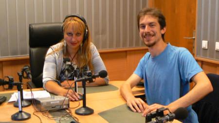 Мария Мира Христова и Константин Бейков в студиото на