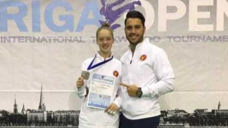 Ванеса Маркова спечели сребърен медал на международния турнир по таекундо, олимпийска версия в Рига (Латвия)