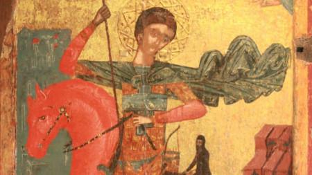 Икона на Свети Димитър от Несебър, XVI- XVII в.