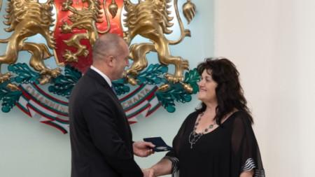 Президентът Румен Радев и Цветанка Варимезова