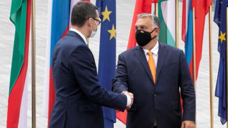 Матеуш Моравецки и Виктор Орбан