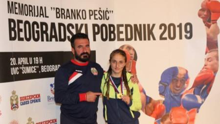 Еми-Мари Тодорова и нейният баща и личен треньор Веселин Тодоров