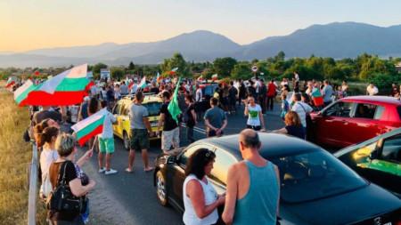 Архив - юли 2020, блокада на пътя Стара Загора - Хасково