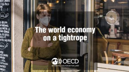 ОИСР предупреди в последния си доклад, че възстановяването на икономиката от срива ще е бавно.