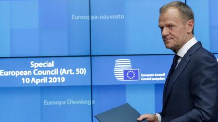 председателят на Европейския съвет Доналд Туск