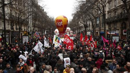 Демонстрацията в Париж