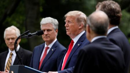 Изказване на Тръмп относно СЗО, Китай и Хонконг